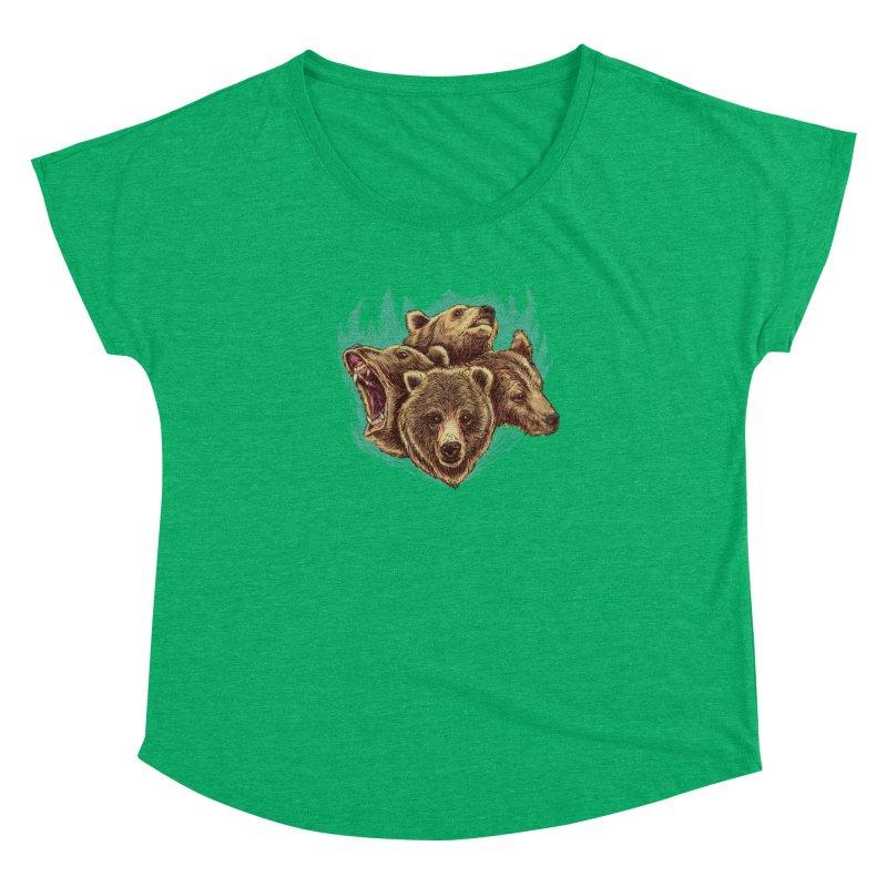 Four Bears Women's Dolman by Jason Castillo Illustration