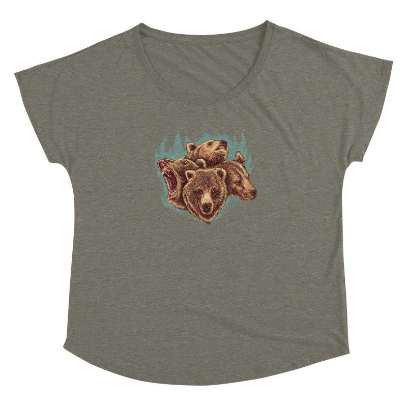Four Bears Women's Dolman Scoop Neck by Jason Castillo Illustration