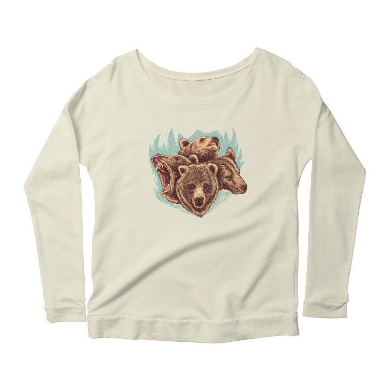 Four Bears Women's Scoop Neck Longsleeve T-Shirt by Jason Castillo Illustration