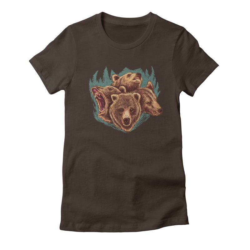 Four Bears Women's Fitted T-Shirt by Jason Castillo Illustration