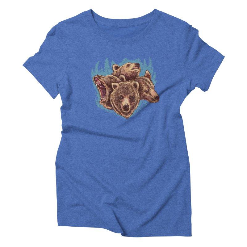 Four Bears Women's Triblend T-shirt by Jason Castillo Illustration