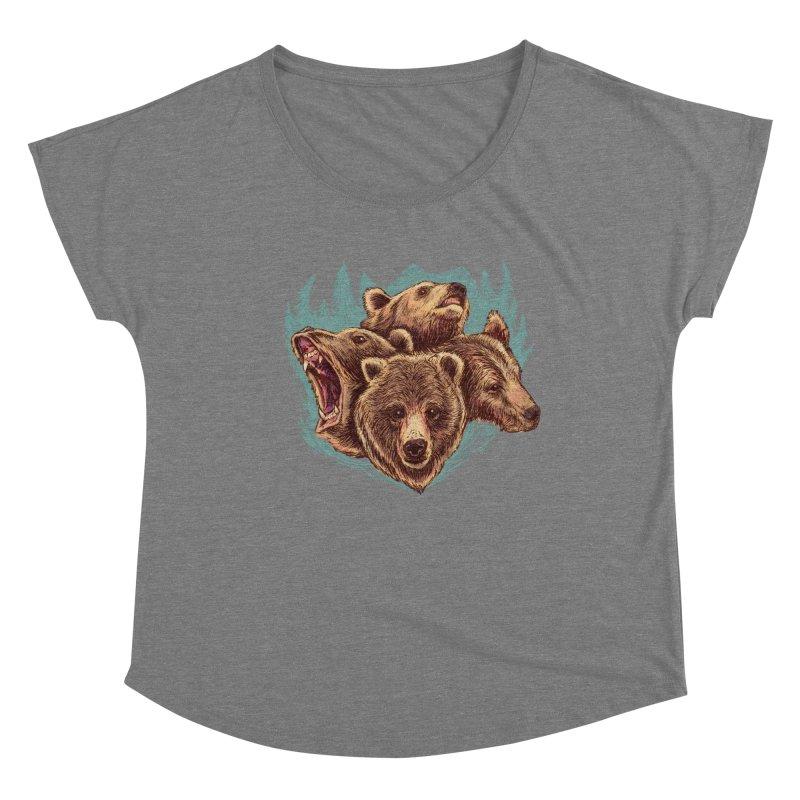 Four Bears Women's Scoop Neck by Jason Castillo Illustration