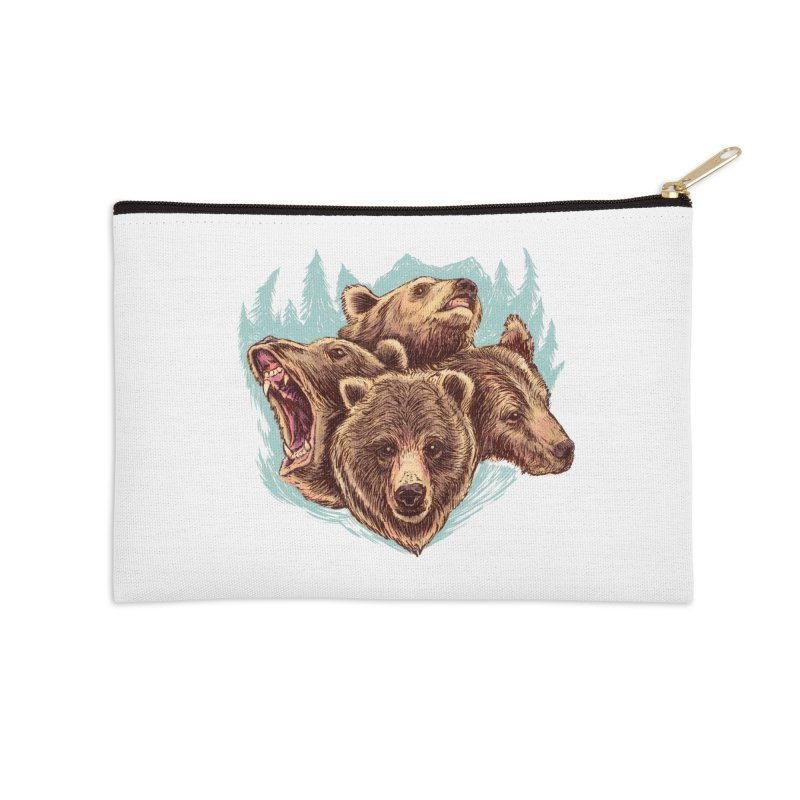 Four Bears Accessories Zip Pouch by Jason Castillo Illustration