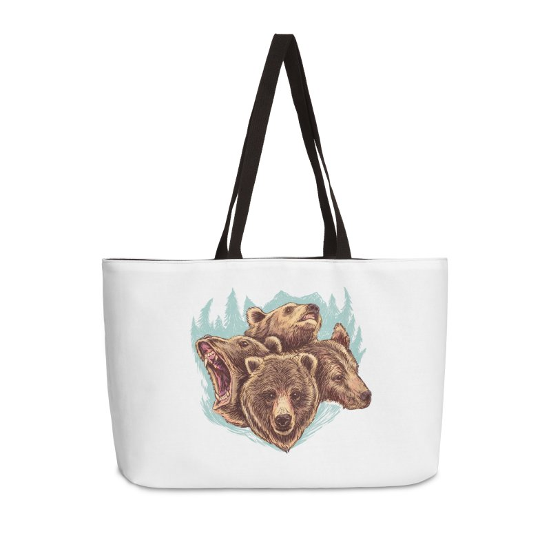 Four Bears Accessories Weekender Bag Bag by Jason Castillo Illustration