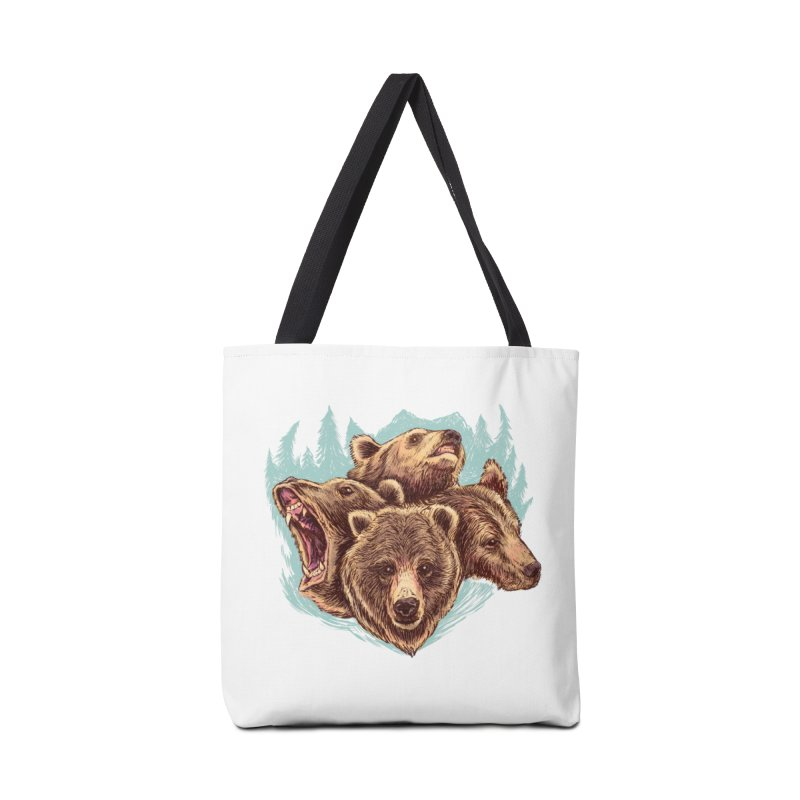 Four Bears Accessories Tote Bag Bag by Jason Castillo Illustration