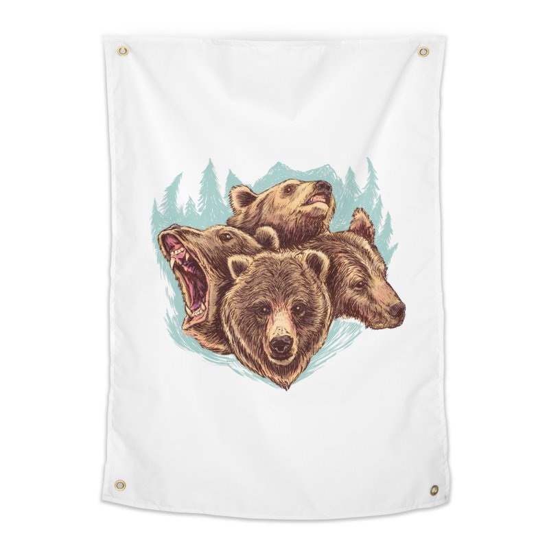 Four Bears Home Tapestry by Jason Castillo Illustration