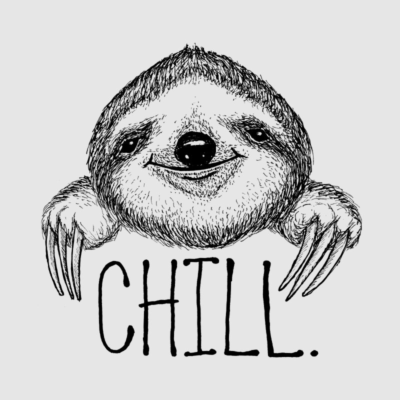 Chillsloth Home Tapestry by Jason Castillo Illustration