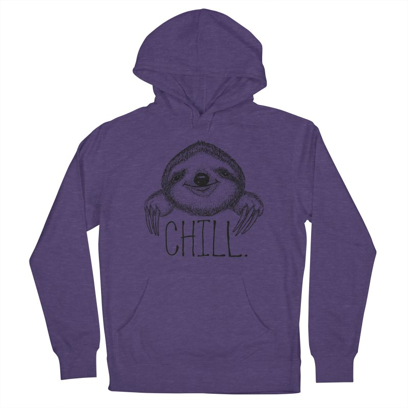 Chillsloth Women's French Terry Pullover Hoody by Jason Castillo Illustration