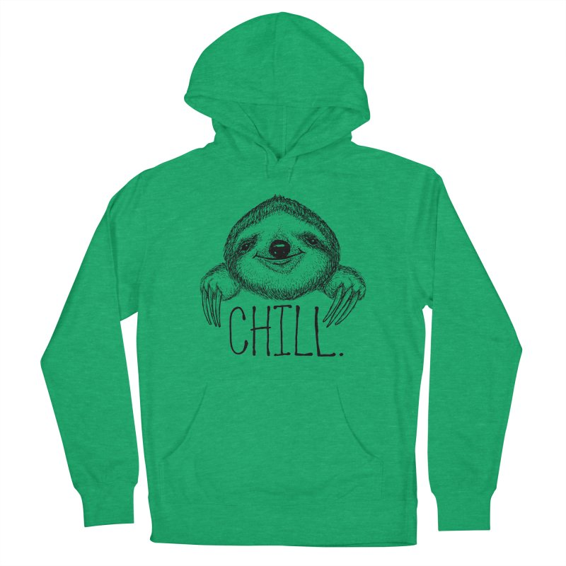 Chillsloth Men's French Terry Pullover Hoody by Jason Castillo Illustration