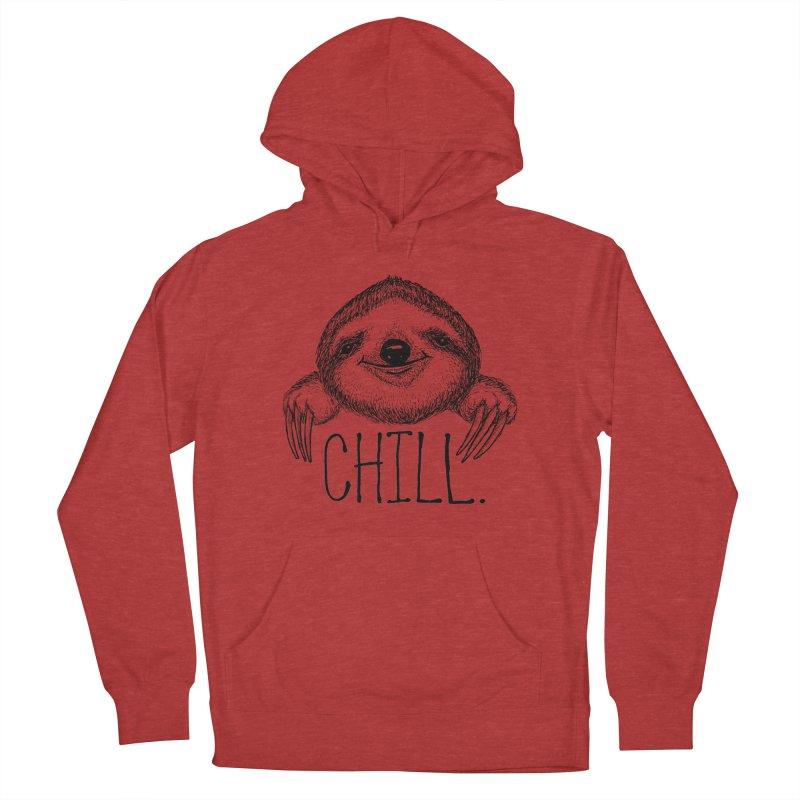 Chillsloth Men's French Terry Pullover Hoody by Jason Castillo Illustration