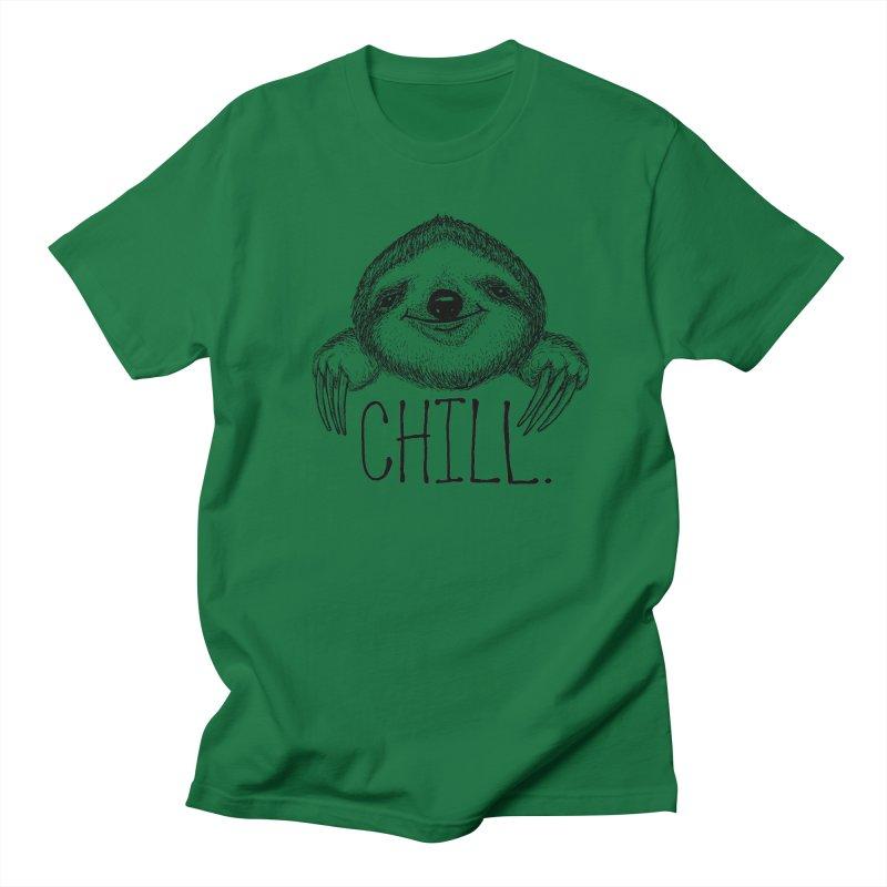 Chillsloth Men's Regular T-Shirt by Jason Castillo Illustration