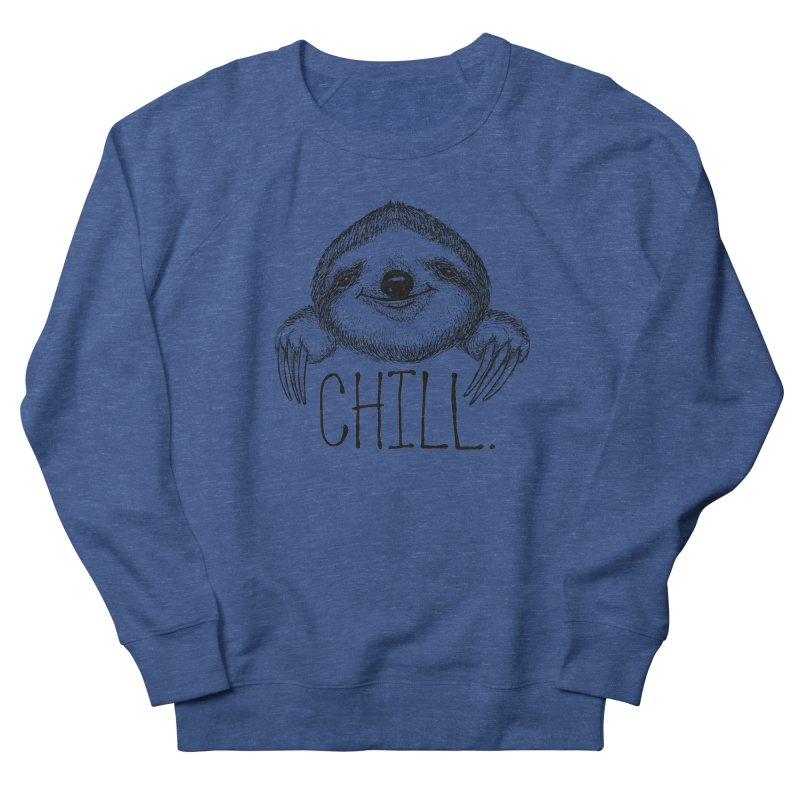 Chillsloth Men's French Terry Sweatshirt by Jason Castillo Illustration