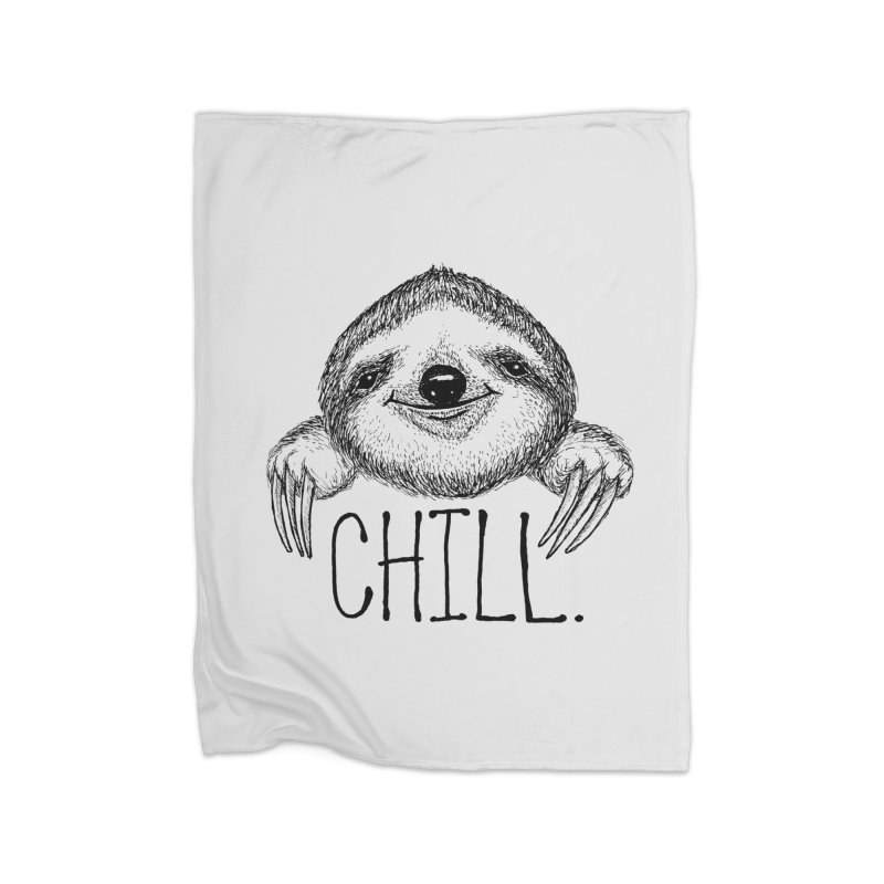 Chillsloth Home Blanket by Jason Castillo Illustration