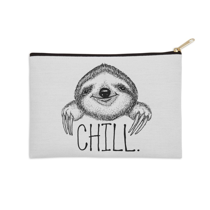 Chillsloth Accessories Zip Pouch by Jason Castillo Illustration