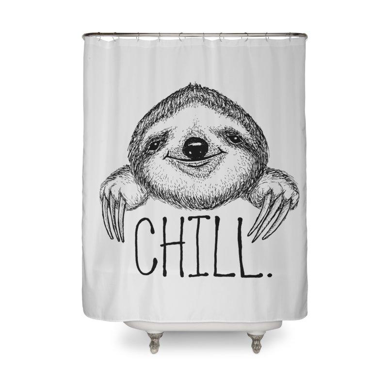 Chillsloth Home Shower Curtain by Jason Castillo Illustration