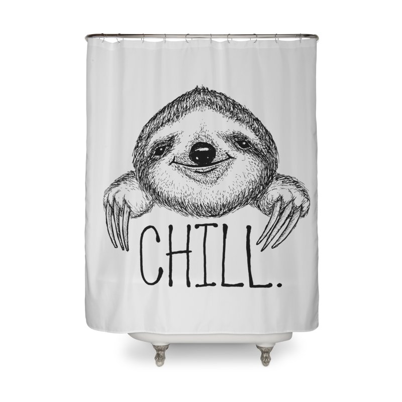 Chillsloth Home Shower Curtain by Jason Castillo Illustration