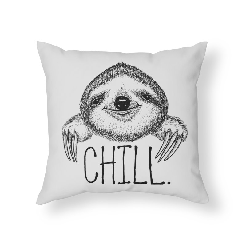 Chillsloth Home Throw Pillow by Jason Castillo Illustration