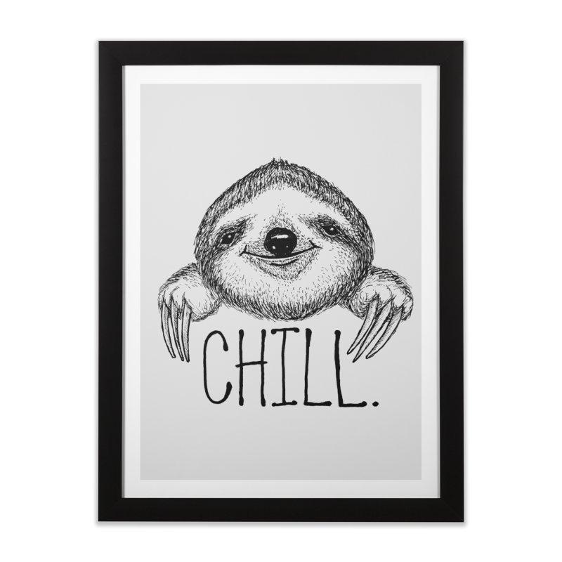 Chillsloth Home Framed Fine Art Print by Jason Castillo Illustration