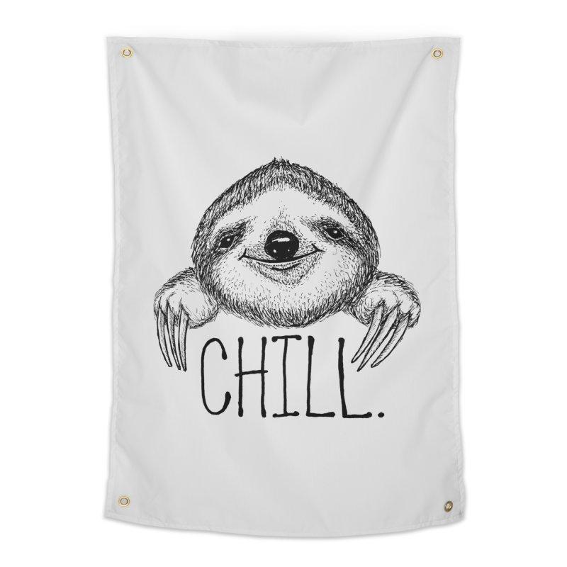 Chillsloth Home Tapestry by Jason Castillo Illustration
