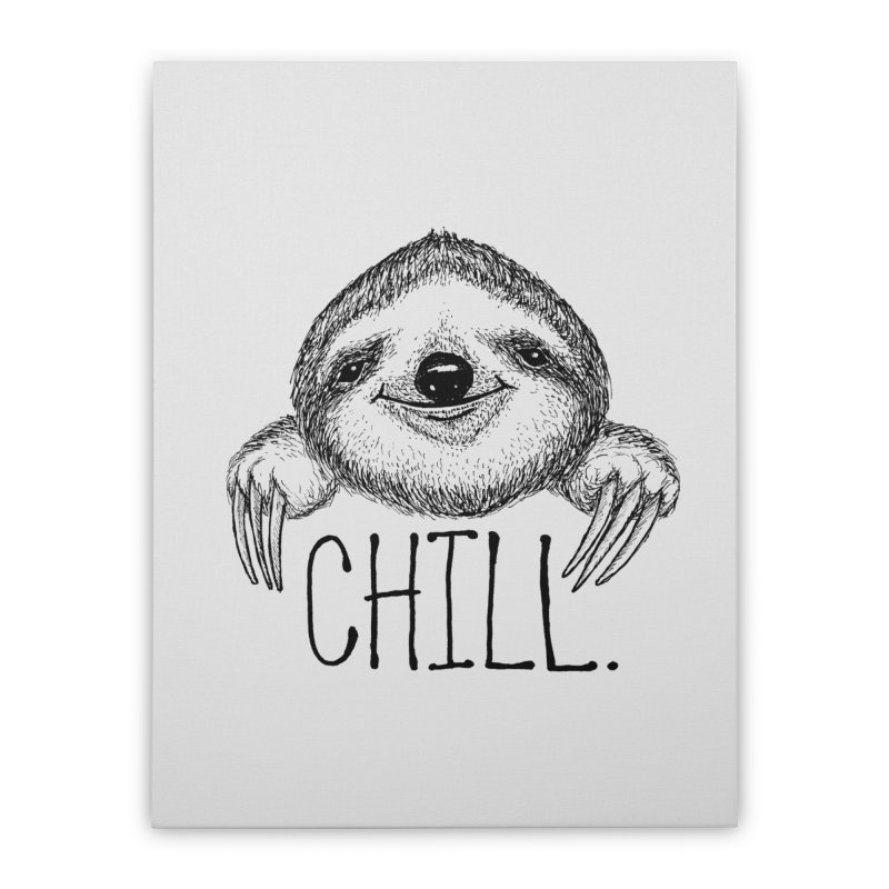 Chillsloth Home Stretched Canvas by Jason Castillo Illustration