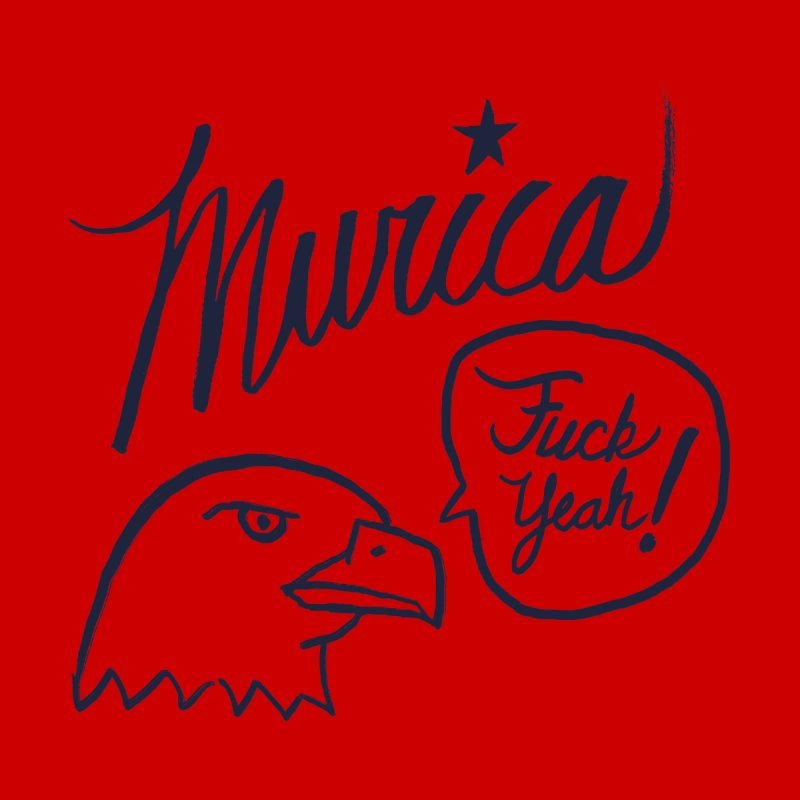 Murica Men's Sweatshirt by Jason Castillo Illustration