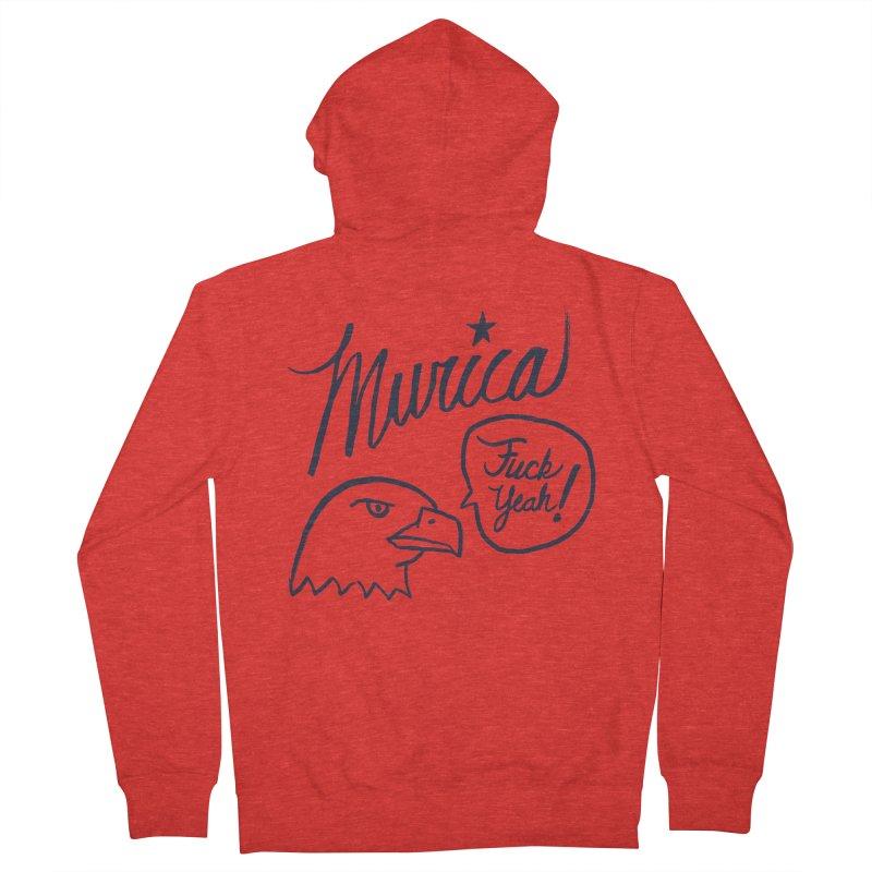Murica Men's Zip-Up Hoody by Jason Castillo Illustration
