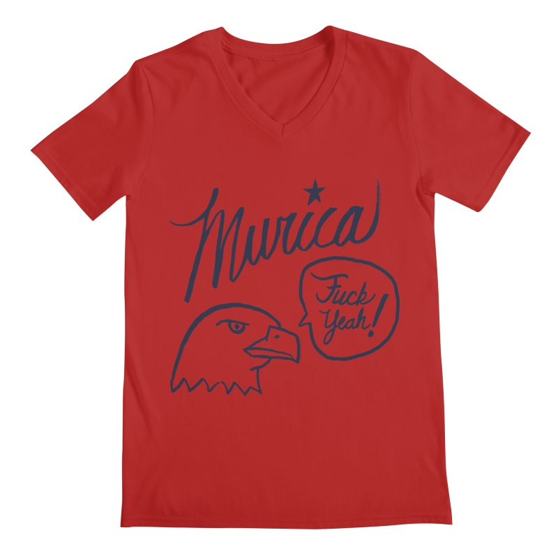 Murica Men's V-Neck by Jason Castillo Illustration