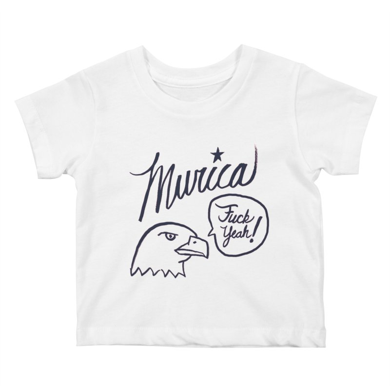 Murica Kids Baby T-Shirt by Jason Castillo Illustration