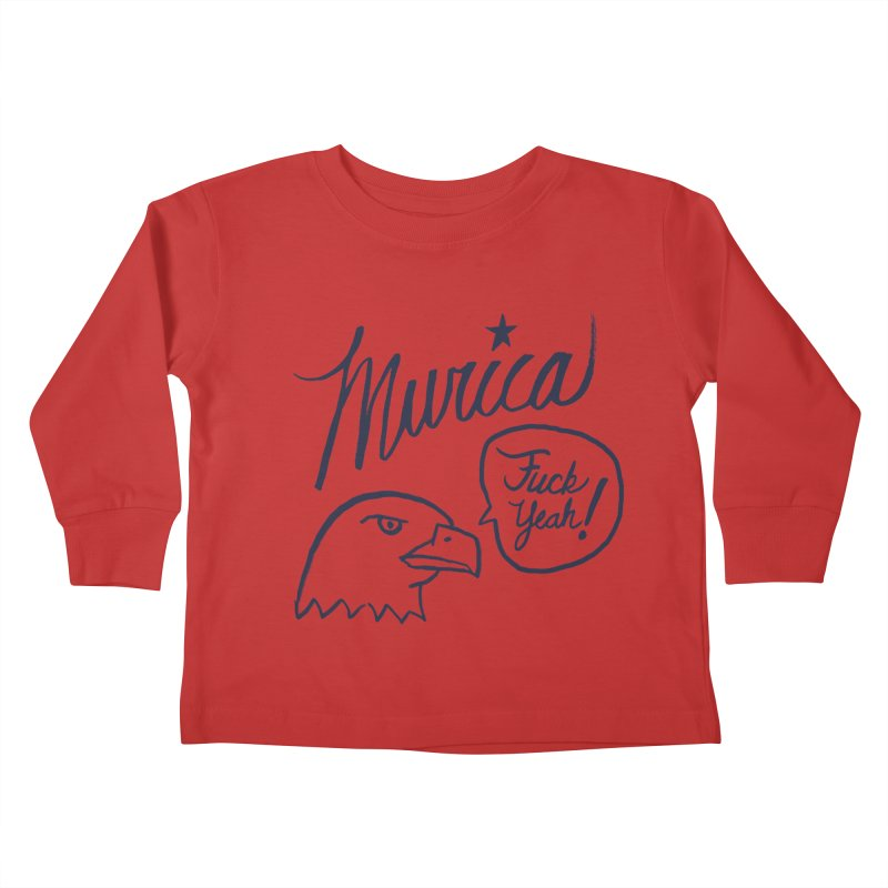 Murica Kids Toddler Longsleeve T-Shirt by Jason Castillo Illustration