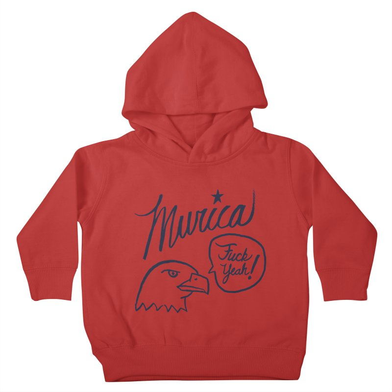 Murica Kids Toddler Pullover Hoody by Jason Castillo Illustration