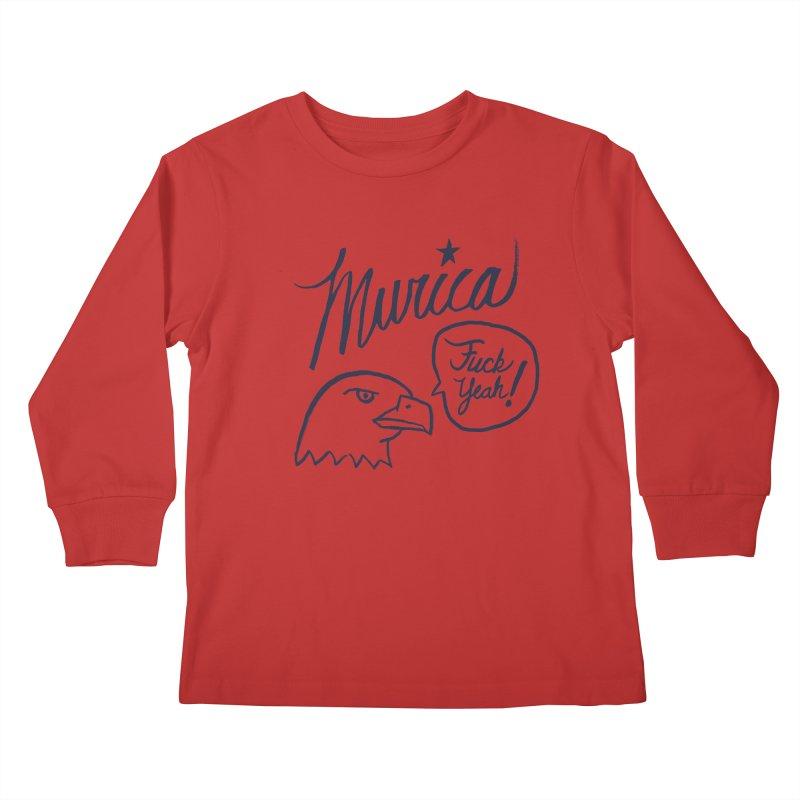 Murica Kids Longsleeve T-Shirt by Jason Castillo Illustration