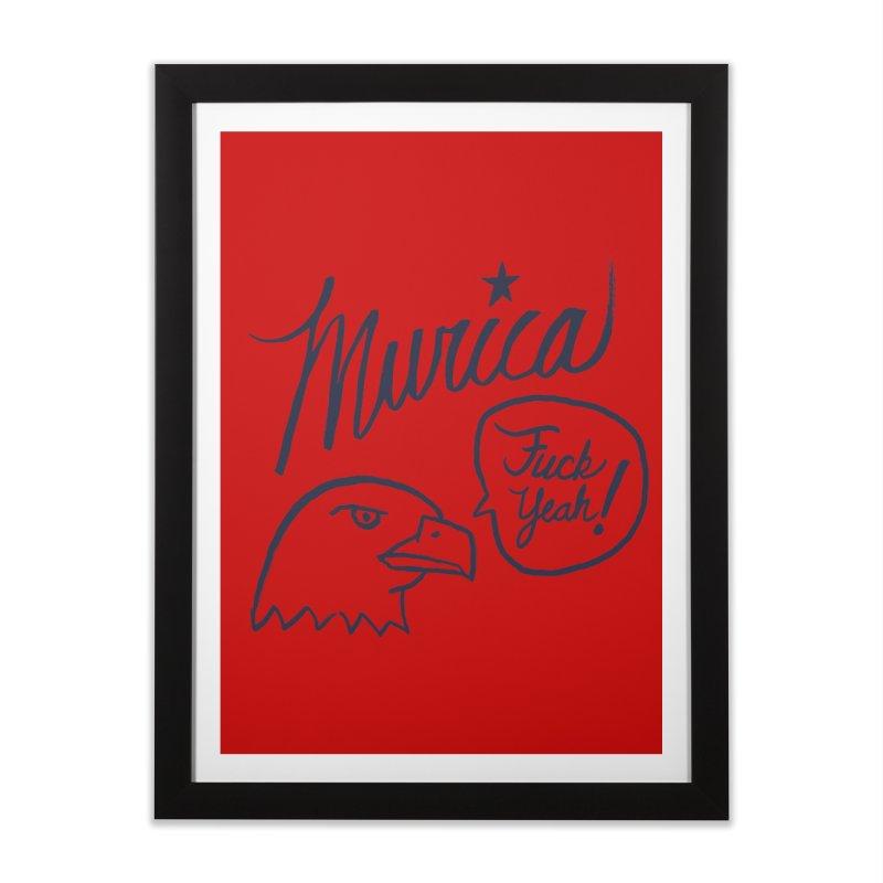 Murica Home Framed Fine Art Print by Jason Castillo Illustration