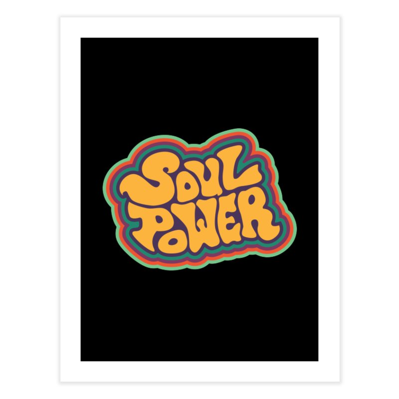 Soul Power Home Fine Art Print by Jason Castillo Illustration