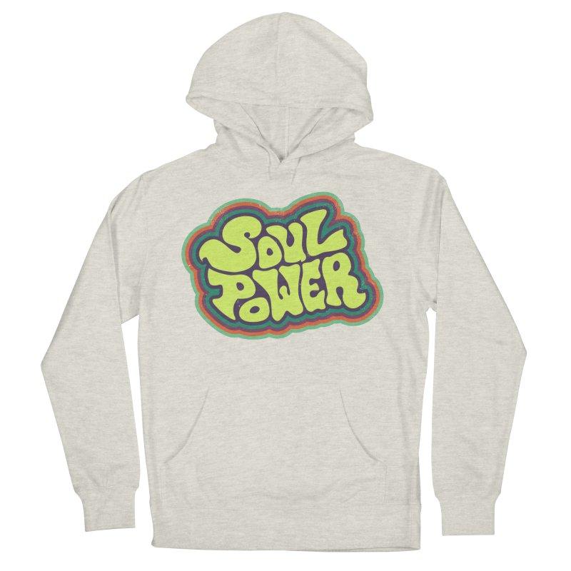 Soul Power Men's French Terry Pullover Hoody by Jason Castillo Illustration