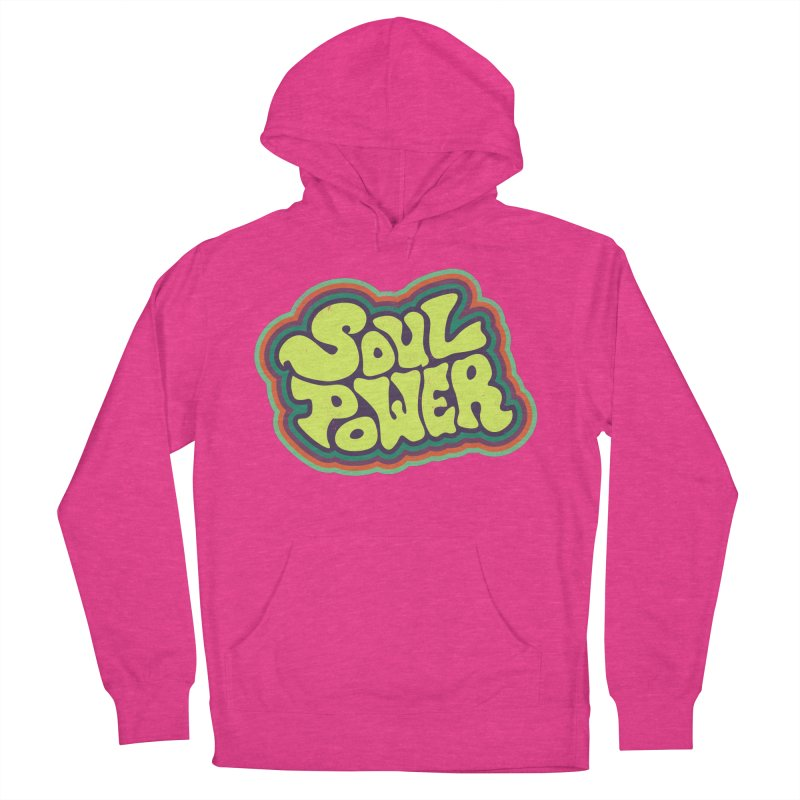 Soul Power Men's French Terry Pullover Hoody by Jason Castillo Illustration