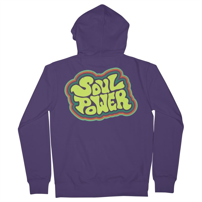 Soul Power Women's French Terry Zip-Up Hoody by Jason Castillo Illustration
