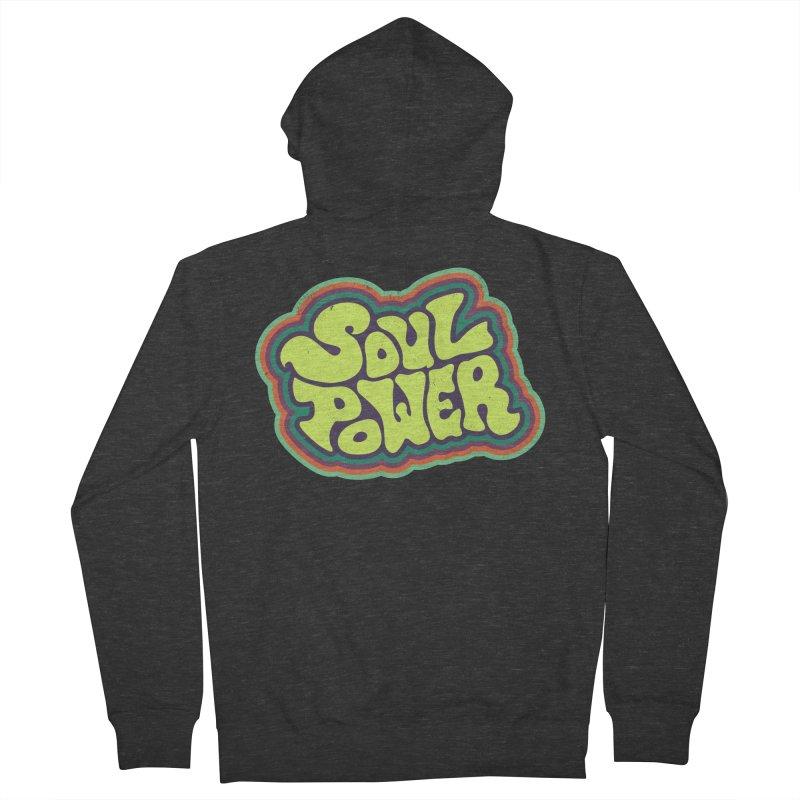 Soul Power Men's French Terry Zip-Up Hoody by Jason Castillo Illustration