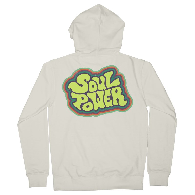Soul Power Men's French Terry Zip-Up Hoody by Jason Castillo Illustration