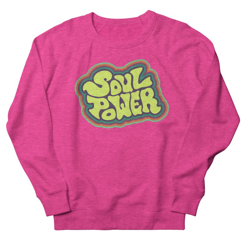 Soul Power Men's French Terry Sweatshirt by Jason Castillo Illustration