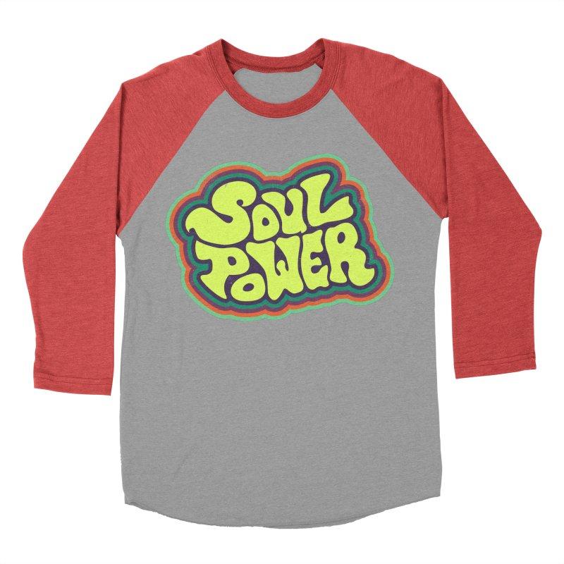 Soul Power Women's Baseball Triblend Longsleeve T-Shirt by Jason Castillo Illustration