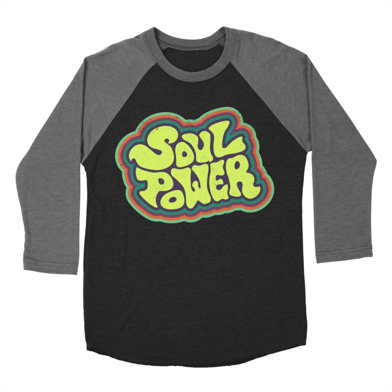 Soul Power Women's Baseball Triblend T-Shirt by Jason Castillo Illustration