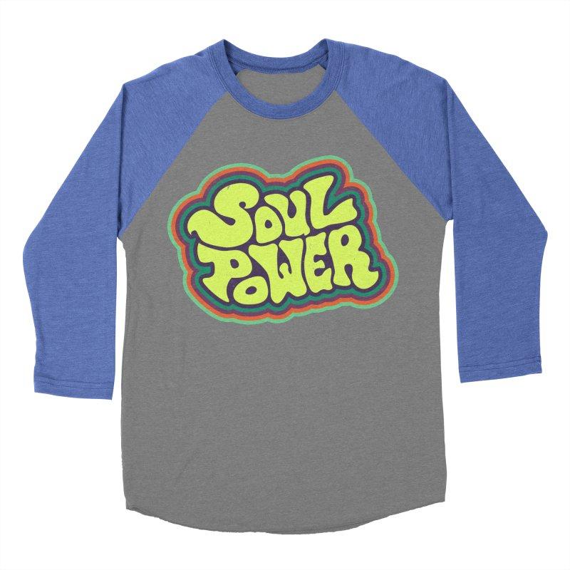 Soul Power Men's Baseball Triblend Longsleeve T-Shirt by Jason Castillo Illustration