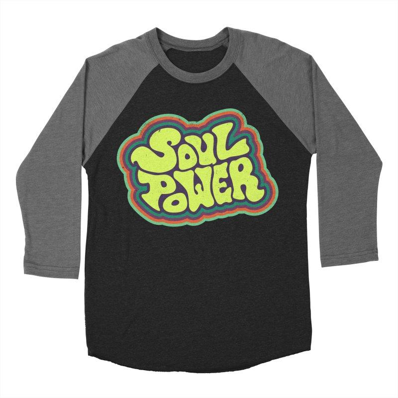 Soul Power Men's Baseball Triblend T-Shirt by Jason Castillo Illustration