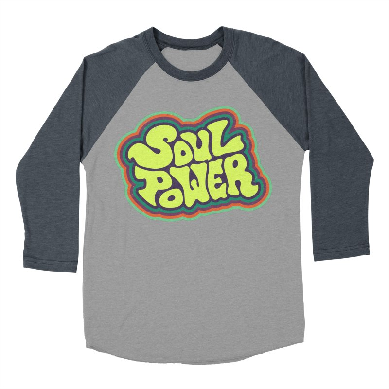 Soul Power Men's Baseball Triblend Longsleeve T-Shirt by Jason Castillo Illustration