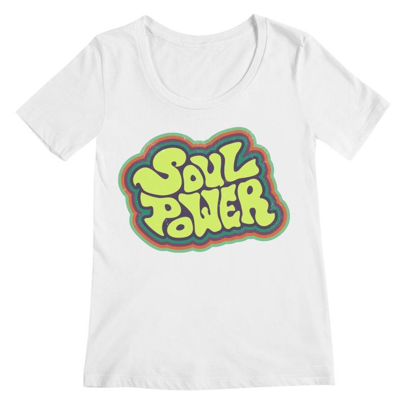 Soul Power Women's Regular Scoop Neck by Jason Castillo Illustration