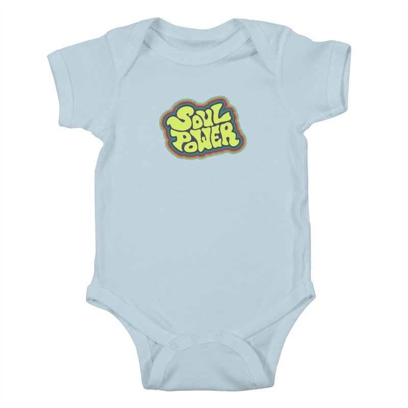 Soul Power Kids Baby Bodysuit by Jason Castillo Illustration