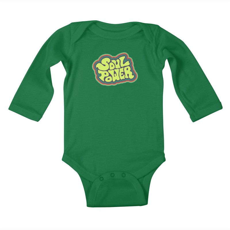 Soul Power Kids Baby Longsleeve Bodysuit by Jason Castillo Illustration