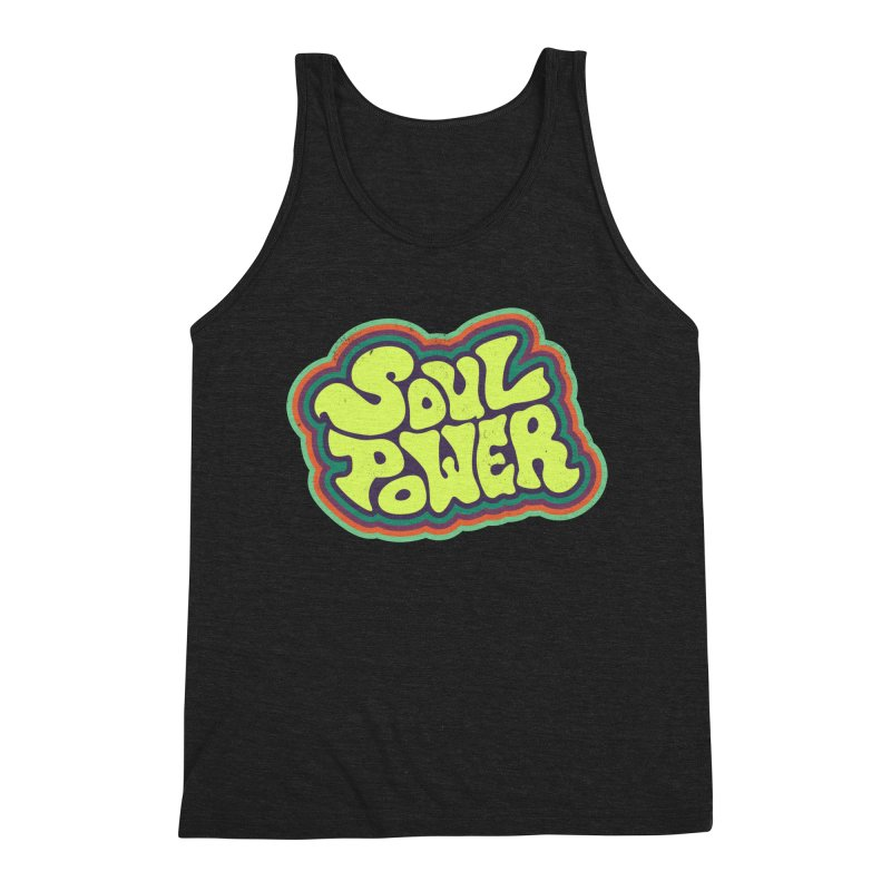 Soul Power Men's Triblend Tank by Jason Castillo Illustration