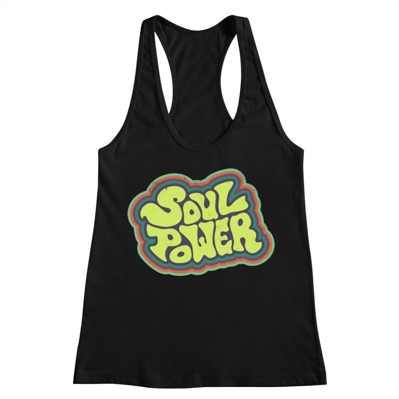 Soul Power Women's Racerback Tank by Jason Castillo Illustration