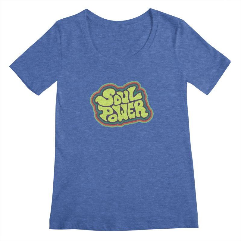 Soul Power Women's Scoopneck by Jason Castillo Illustration